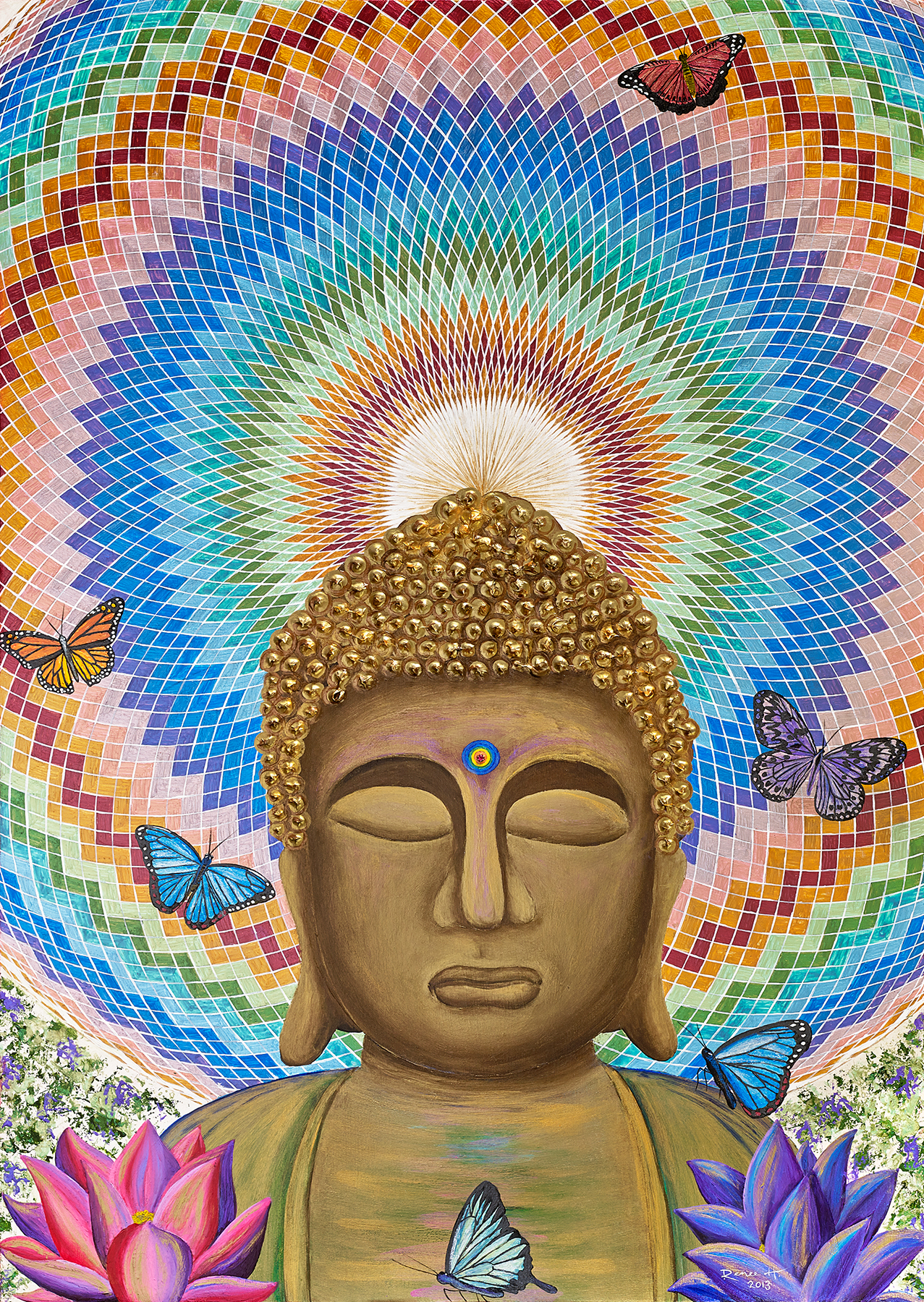 Buddha & the 1000-petaled Lotus