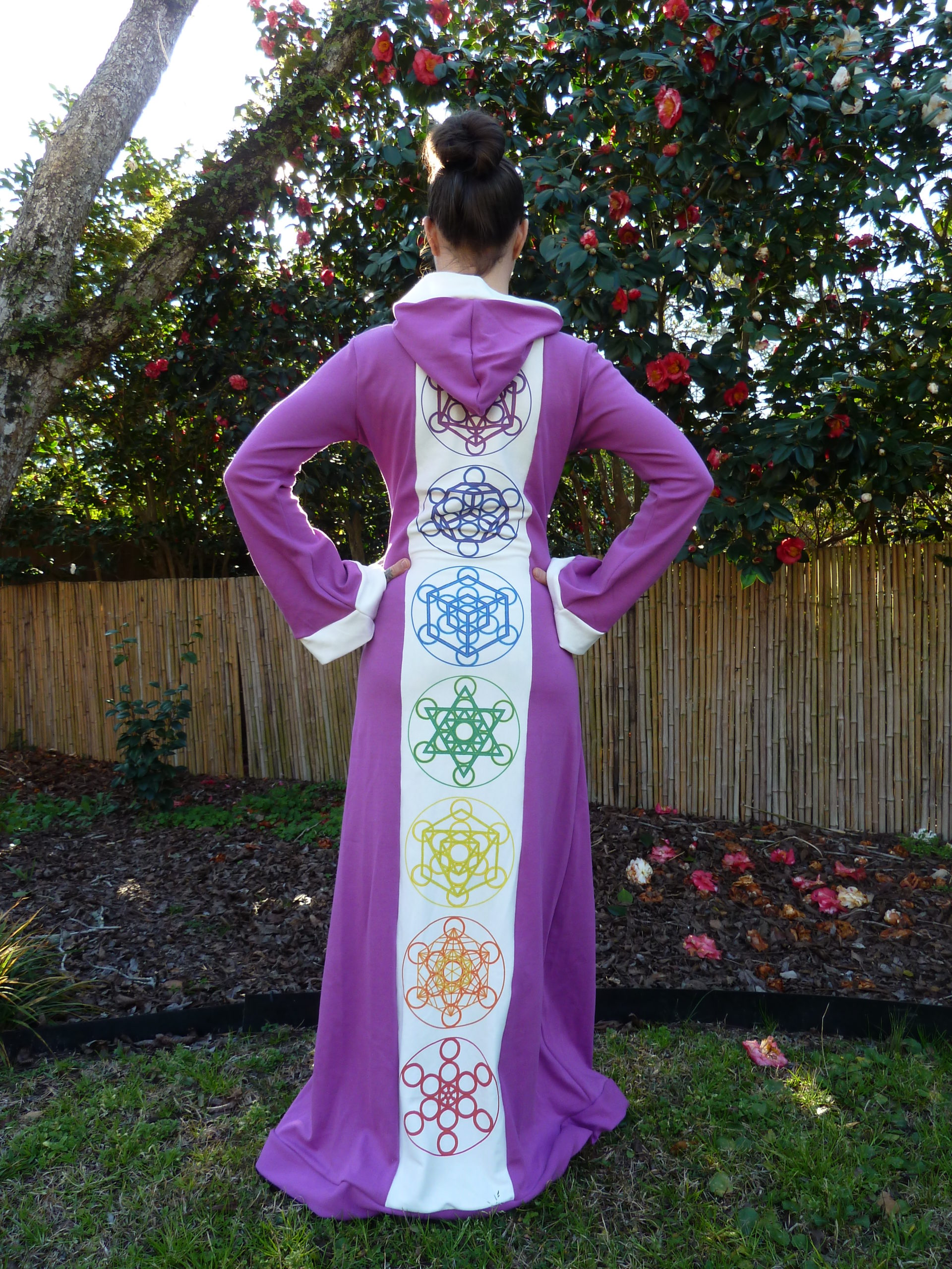 Purple Platonic Solid Robe